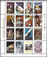 Umm Al-Qiwain 1972 - History Of Space Travel ( Mi 1082/97A - YT Xxx ) Sheet - Raumfahrt