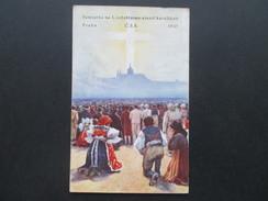 AK Tschechien 1935 Pamiatka Na I. Celostatny Zjad Katolikov. Praha. Vignette Jesus INF. Religiöse Feier!! - Jesus