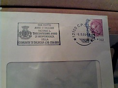 BUSTA 20024 TARGHETTA CUNEO 300 EDITTO ANNA D'ORLEANS INDIPENDENZA COMUNITA SALMOUR  GA12636