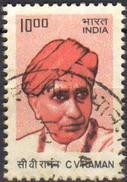 India 2010 1 V Used C. V. Raman Indian Physicist Nobel Prize Physics - Fysica