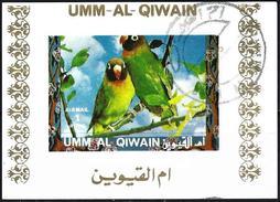 Umm Al-Qiwain 1972 - Tropical Birds ( Mi B1405B - YT Xxx ) Block Impeforated