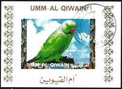 Umm Al-Qiwain 1972 - Tropical Birds ( Mi B1248B - YT Xxx ) Block Impeforated