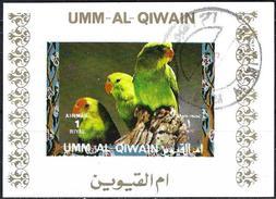 Umm Al-Qiwain 1972 - Tropical Birds ( Mi B1403B - YT Xxx ) Block Impeforated