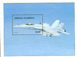 ANTIGUA  & BARBUDA  2179 MINT NEVER HINGED SOUVENIR SHEET OF AVIATION - Airplanes