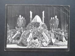 AK Tschechien 1937 Katafalk Presidenta Osvoboditele Na Hrade Prazskem. Beerdigung. Soldaten. Sonderstempel - Persönlichkeiten