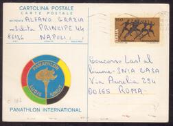TI26          ITALIA CARTOLINA POSTALE PANATHLON DEL 1980 VIAGGIATA