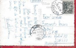 Circulated Postcard Of Monção/Lobito,Angola 1959.Railways Of Benguela.Verse Postal Chafariz De Monção.2 Scan.Raro.