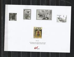 Belgium 2016 - The Weekly Tintin Promotional Sheet