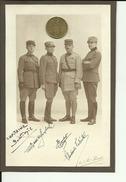 SERBIA  - KINGDOM OF YUGOSLAVIA  -  FOTO AM KARTON   -  SERBIAN CAPITAINE IN TOULOUSE, 1927, SIGNATURE - 18 Cm X 12 Cm