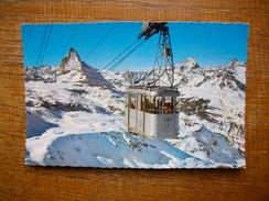 Suisse , Zermatt , Luftseilbahn Gornergrat-hohtäli Stockhorn - VS Valais