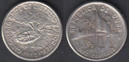 1952-MN-114 CUBA. KM 23. SILVER 10c. 2.5 Gr. 1952. 50 ANIV REPUBLICA. INGENIO LA DEMAJAGUA. XF - Cuba