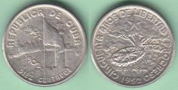 1952-MN-115 CUBA. KM 23. SILVER. 10c. 1952. 50 ANIV REPUBLICA. INGENIO LA DEMAJAGUA. XF. - Cuba