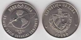 1980-MN-100 CUBA 1$ 1980. SPACE COSMOS FLIGHT . UNC. CU-NI - Cuba