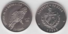 1985-MN-101 CUBA 1$ 1985. PARROT. BIRD. COTORRA. FAUNA. UNC. CU-NI - Cuba