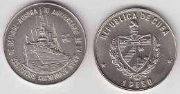 1987-MN-106 CUBA 1$ 1987 AURORA BATTLESHIP RUSSIA. REVOLUTION 1917. UNC. CU-NI - Cuba