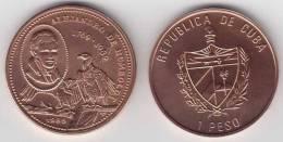 1989-MN-115 CUBA 1$ 1989 ALEXANDER VON HUMBOLTD GERMANY BIRD UNC. COPPER. - Cuba