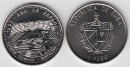 1992-MN-110 CUBA 1$ 1992. AÑO DE ESPAÑA. ESTADIO OLIMPICO BARCELONA. OLIMPIC STADIUM U - Cuba