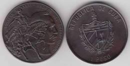 1993-MN-103 CUBA 1$ 1993 HORSE JOSE MARTI & SIMON BOLIVAR. UNC. COBRE PATINADO - Cuba