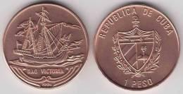 1994-MN-105 CUBA 1$ 1994 BARCO VICTORIA SHIP VICTORY. UNC. COPPER - Cuba