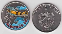 1994-MN-106 CUBA 1$ 1995. AVION ALBATROS. PINTADA UNC. CU-NI - Cuba