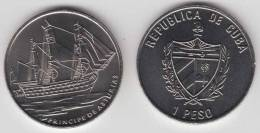 2008-MN-106 CUBA 1$ 2008 BARCO SHIP PRINCE OF ASTURIAS UNC. CU-NI - Cuba
