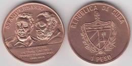 2010-MN-101 CUBA 1$ 2010 FIDEL CASTRO & ERNEST HEMINGWAY. UNC. COPPER - Cuba