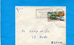 MARCOPHILIE-lettre-DAHOMEY->Françe-cad 1969 +flamme Expo  Philexafrique -1 -stamp Poste Automobile Rurale *-combi Wolskw