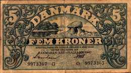 DANEMARK 5 KRONER De 1942 Pick 30 - Danemark