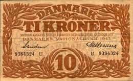 DANEMARK 10 KRONER De 1943 Pick 31o - Danemark