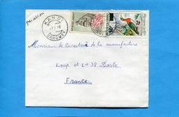 MARCOPHILIE-lettre-DAHOMEY->Françe-cad  KANDI1970 -2 -stamp A111surchargé 10frs  Canard-nettapus Auritus