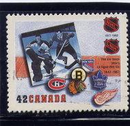 CANADA, 1992.  # 1444,  NATIONAL HOCKEY LEAGUE : 1967-1992, Players , Logo,  Mnh