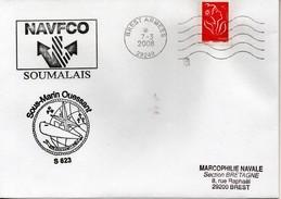 Marcophilie Navale - Enveloppe - Sous-marin OUESSANT S 623 - Boten