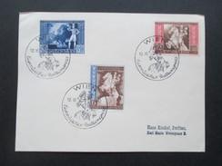 Deutsches Reich 1942 Europäischer Postkongreß Der Achsenmächte In Wien. Nr. 820-822 Sonderstempel Wien