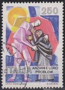 ITALIA - Valore Usato Di 250 Lire - Gli Anziani E I Loro Problemi - 23.1.1985