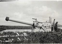 Canon… Bateau Navire De Guerre C.1950 Photo C.6x9cm …de La Marine Militaire Bedoin?