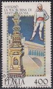 ITALIA - Valore Usato Di 400 Lire - Folclore Italiano. 3° Emissione. Viterbo: La Macchina Di Santa Rosa - 3.9.1984