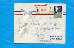 MARCOPHILIE-lettreREC-GABON ->Françe-cad Koulamouto1967 -stamp N°197 Forage Pétrolier En Mer