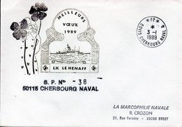Marcophilie Navale - Enveloppe - Vœux 1989 L.V. LE HENAFF - Boten