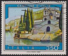 ITALIA - Valore Usato Di 350 Lire - Propaganda Turistica. 11° Emissione. Campione D'Italia - 19.5.1984