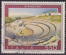ITALIA - Valore Usato Di 550 Lire - Propaganda Turistica. 11° Emissione. Siracusa - 19.5.1984