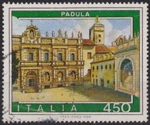 ITALIA - Valore Usato Di 550 Lire - Propaganda Turistica. 11° Emissione. Padula - 19.5.1984