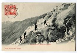 Schweiz Heimat VS BELVEDERE-FURKASTRASSE 8-8-1905 Auf  Ansichtskarte Bergsteiger Photoglob #4709