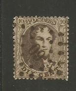 1863 - COB N° 14B - Dent. 14 1/2 X 14 1/2 - Oblitéré 60 BRUXELLES -  TRES BEAU - Voir Description