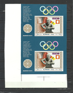 AJMAN  1969  Olympics Olympic Games   Mexico  1968  Boxing  2 Deluxe Sheets Uncut Proof Imperf.  Rare!