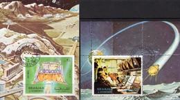 Apollo 17 Kontrolle Houston 1972 Shardscha Blocks 113A+114 B O 10€ SU Luna 9 Raumfahrt Blocs Ss Space Sheets Bf VAE