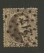 1863 - COB N° 14B - Dent. 14 1/2 X 14 1/2 - Oblitéré 217  LIEGE -  Voir Description
