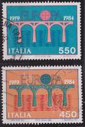 ITALIA - Serie 2 Valori Usati - Europa Unita E 25° Anniversario CEPT - 4.5.1984