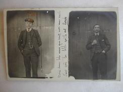 CARTE PHOTO - Hommes Debouts - Hommes