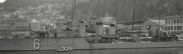 Bateau Navire De Guerre C.1950 Avec Canon Photo C.6x9cm - Marine Militaire Port D Oran ?! 6