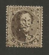 1863 - COB N° 14B - Dent. 14 1/2 X 14 1/2 - Oblitéré 385  WAERSCHOOT -  Voir Description